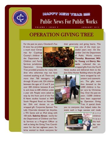 operation giving tree - Cuyahoga County Department of Public Works
