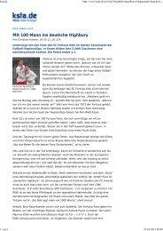 Mit 100 Mann ins deutsche Highbury - SC Fortuna Köln