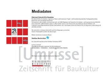 Zeitschrift für Baukultur Mediadaten - Umrisse
