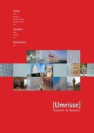 04·2013 - Thema: Türme - Fassaden - Brandschutz - Umrisse