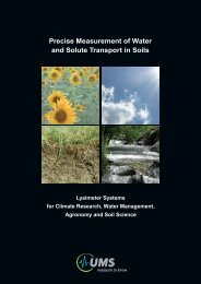 Precise Measurement of Water and Solute Transport in Soils - UMS