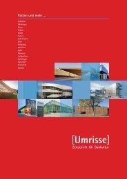 AKTUELLES HEFT [Umrisse] Zeitschrift für Baukultur 1/2 - 2013