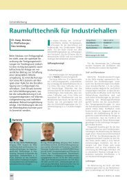 Raumlufttechnik für Industriehallen - Umwelt-Campus Birkenfeld