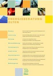 Energieberatung Olten (PDF 132 kB) - bei der Umweltfachstelle Olten