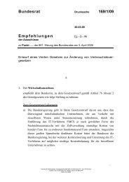 Bundesrat 169/1/09 Empfehlungen - Umwelt-online