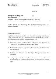 Bundesrat 387/1/13 Empfehlungen - Umwelt-online