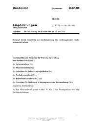 Bundesrat 268/1/04 Empfehlungen - Umwelt-online