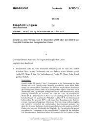 Bundesrat 370/1/13 Empfehlungen - Umwelt-online