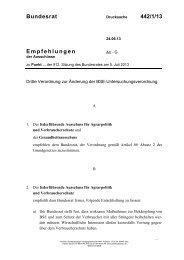 Bundesrat 442/1/13 Empfehlungen - Umwelt-online