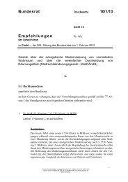 Bundesrat 10/1/13 Empfehlungen - Umwelt-online