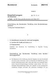 Bundesrat 282/1/12 Empfehlungen - Umwelt-online