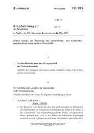 Bundesrat 151/1/13 Empfehlungen - Umwelt-online