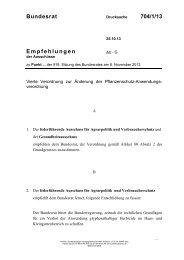 Bundesrat 704/1/13 Empfehlungen - Umwelt-online