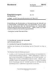 Bundesrat 191/13 Empfehlungen - Umwelt-online