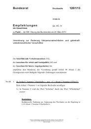 Bundesrat 120/1/13 Empfehlungen - Umwelt-online