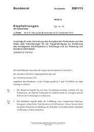 Bundesrat 520/1/13 Empfehlungen - Umwelt-online