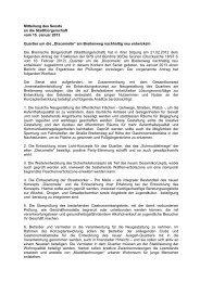 Mitteilung des Senats an die Stadtbürgerschaft vom 15 ... - Bremen