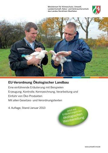 EU-Verordnung Ökologischer Landbau - Ministerium für ...