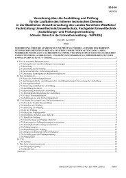 Verordnung über die Ausbildung und Prüfung für die Laufbahn des ...