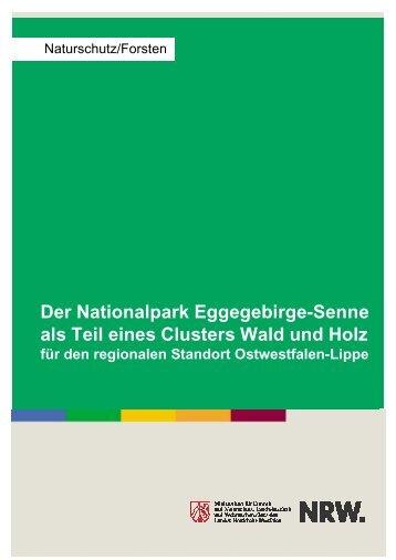 Der Nationalpark Eggegebirge-Senne als Teil eines Clusters Wald ...