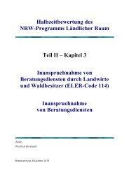 Teil II Kapitel 3 - Ministerium für Klimaschutz, Umwelt, Landwirtschaft ...