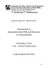 Pressegespräch zu dioxinähnlichen PCB und Dioxinen in ...