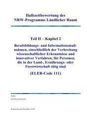 Teil II Kapitel 2 - Ministerium für Klimaschutz, Umwelt, Landwirtschaft ...