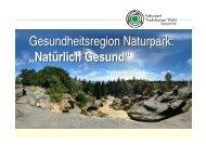 """Gesundheitsregion Naturpark: """"Natürlich Gesund ..."""