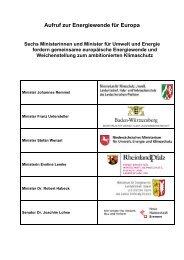 Aufruf zur Energiewende für Europa