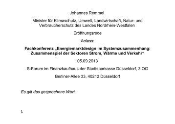 """Fachkonferenz """"Energiemarktdesign im Systemzusammenhang ..."""