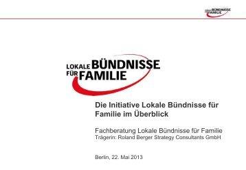 Fachberatung Lokale Bündnisse für Familie
