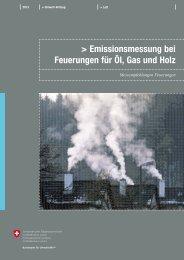 Empfehlung zur Messung der Abgase von Feuerungen für Heizöl