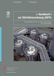 Handbuch I zur Störfallverordnung (StFV) - Umwelt und Energie