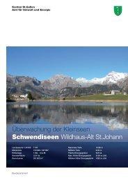 Schwendiseen - Umwelt und Energie - Kanton St.Gallen