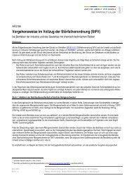 Vorgehensweise im Vollzug der Störfallverordnung - Umwelt und ...
