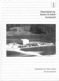 Deponieplanung Kanton St.Gallen: Kurzbericht (2179 kB, PDF)