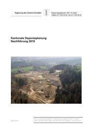 Kantonale Deponieplanung - Umwelt und Energie - Kanton St.Gallen