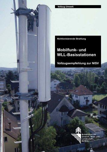Mobilfunk- und WLL-Basisstationen; Vollzugsempfehlung zur NISV