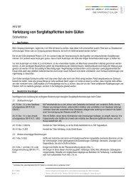 AFU187: Verletzung von Sorgfaltspflichten beim Güllen (Merkblatt)