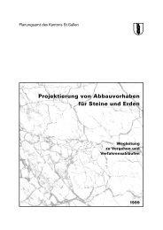 Kiesabbau: Wegleitung zu Vorgehen und ... - Kanton St.Gallen