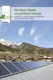 Die Alpen: Quelle erneuerbarer Energie (5710 kB, PDF)