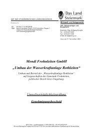 UVP-Genehmigungsbescheid vom 27. November ... - Land Steiermark