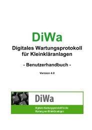 Benutzerhandbuch DiWa 4.0 - Die Kommunale Umwelt-AktioN UAN