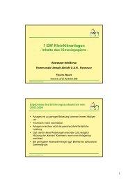 1 EW Kleinkläranlagen (384 KB) - Die Kommunale Umwelt-AktioN ...