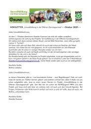 Oktober 2009++ Liebe UmweltbildnerInnen, ab dem 1. Oktober überni