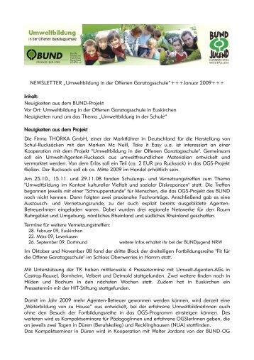 Neuigkeiten aus dem BUND-Projekt Vor Ort - Umweltbildung in der ...