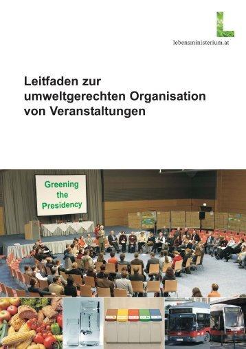 Leitfaden zur umweltgerechten Organisation von ... - Nachhaltigkeit.at