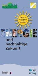 Energie und nachhaltige Zukunft - Ökolog