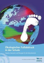 Ökologischer Fußabdruck in der Schule - Lebensministerium