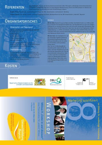 Flyer (PDF, 660 KB) - Umweltbildung in Bayern